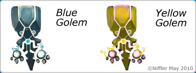 Chuck's Challenge - Blue & Yellow Golems